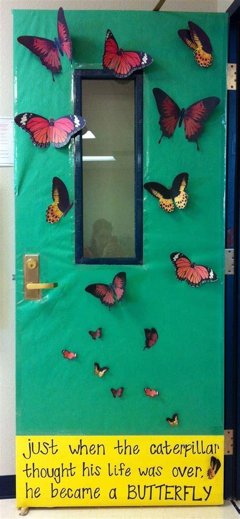 life   mother  teacher butterfly class door