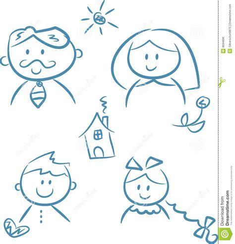 doodle royalty free family doodles royalty free stock image image 8694896