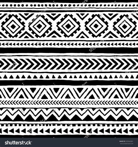 tribal pattern eps seamless ethnic tribal pattern handmade horizontal stock