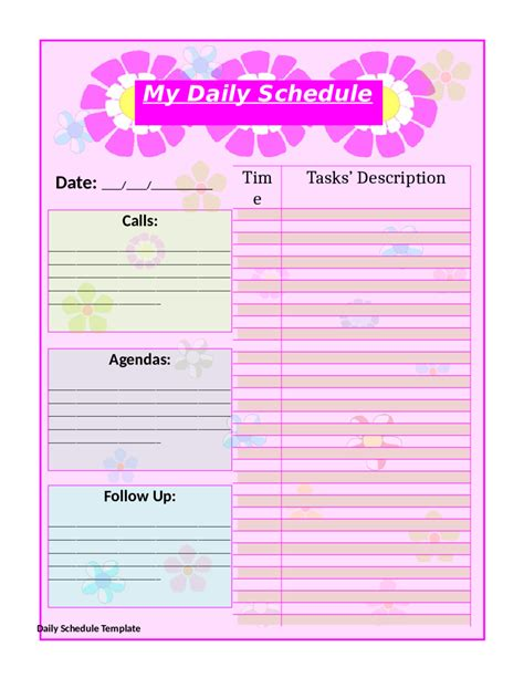 printable daily planner cute 10 free printable daily planner templates printable