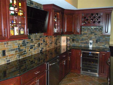 Which Color Subway Tile For Maple Cabinets And Granite - what color backsplash with cherry cabinets and black