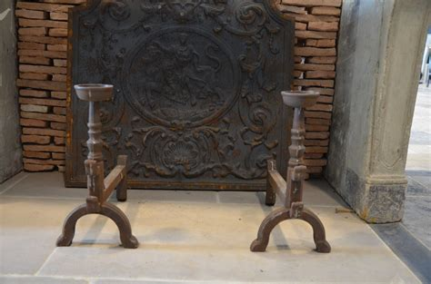 chenets cheminee chenet chemin 233 e en fonte r 233 plique mod 232 le ancien bca