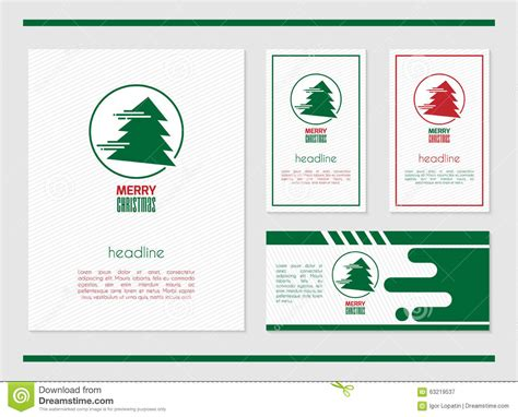 template website card vector card template with tree
