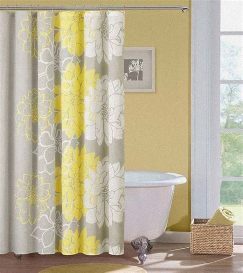 Yellow Gray Shower Curtain by Yellow Grey