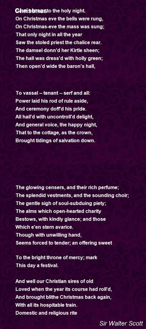 christmas poem  sir walter scott poem hunter