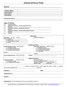 approval template best photos of sle vendor form vendor information