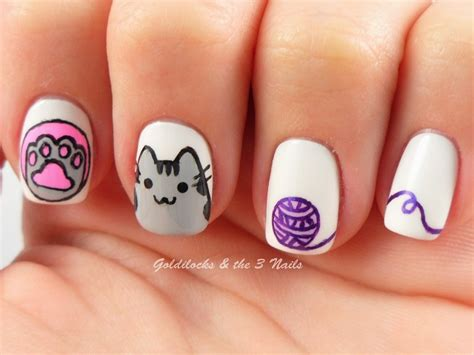 imagenes de uñas pintadas gatos u 241 as pintadas con gato de facebook facebook cat nails