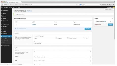 wordpress acf layout multi site wordpress with scss and template inheritance