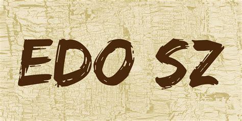 Font Edo Sz | edo sz font 183 1001 fonts