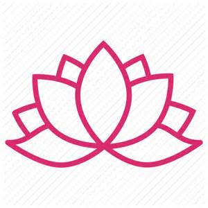 Lotus Flower Icon Abstract Bloom Floral Flower Flowers Lotus Icon