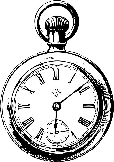 free image on pixabay clocks watch black and white