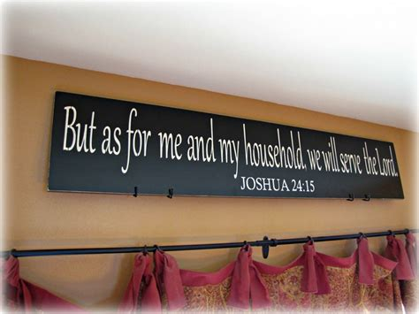 religious wall ideas as for me and my household joshua christian wall decor