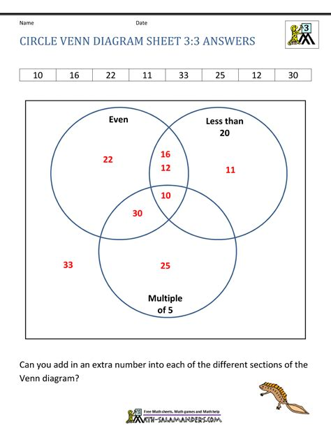 venn diagram questions with solutions venn diagram worksheets 3rd grade