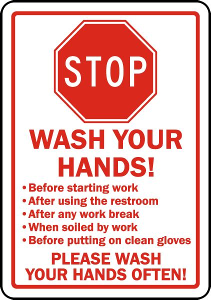 bathroom signs wash your hands stop wash your hands sign d5828 by safetysign com