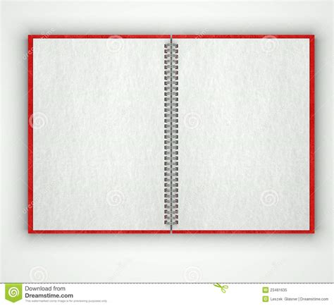 Print Notebook S M open blank notebook paper texture stock image image