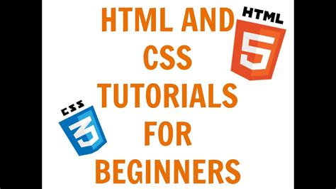 css tutorial for beginners with exles video html and css guide for beginners