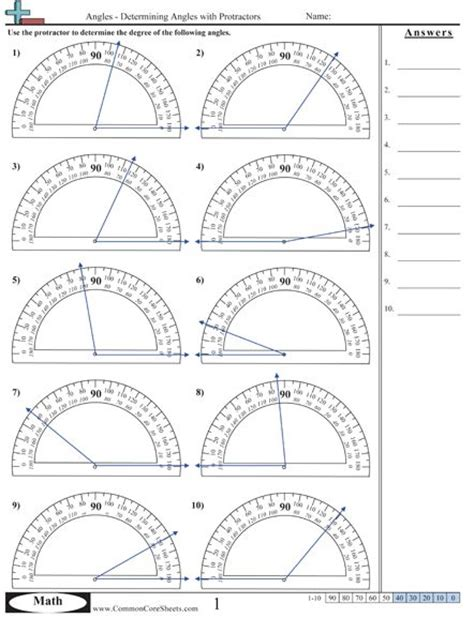 printable math worksheets protractor pinterest the world s catalog of ideas