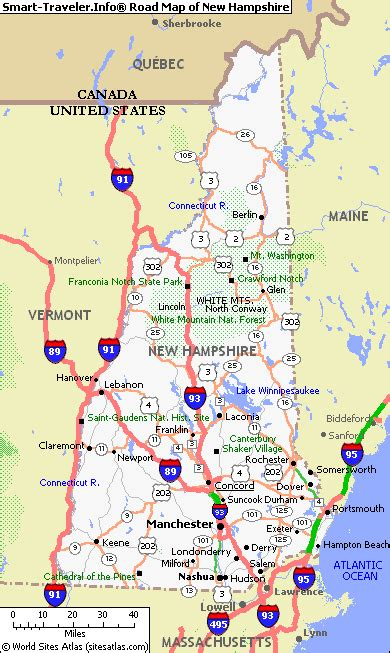 map of southern nh map of new hshire america maps map pictures