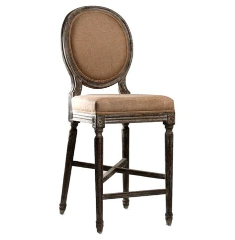 country bar stool medallion oak country bar stool in copper linen