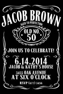 Items similar to jack daniels style birthday invitation 50th