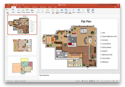 presentation drawing layout powerpoint presentation of a floor plan conceptdraw helpdesk