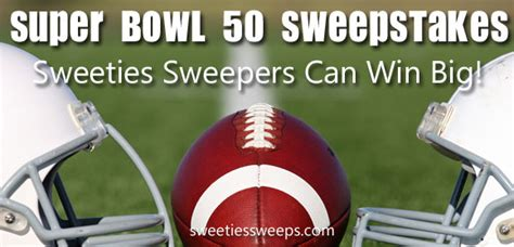 Superbowl Sweepstakes - super bowl 50 sb50 sweepstakes roundup