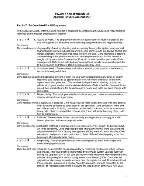 employee self assessment samples employee self evaluation