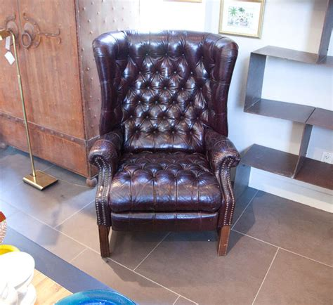 Chesterfield Recliner by Chesterfield Leather Tufted Recliner At 1stdibs