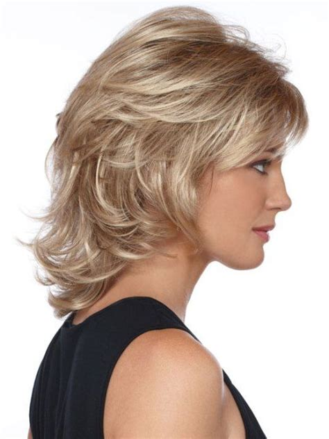 wavy hairstyles mid length with feathered bangs and sides 52 medium hair cuts styles you ll see everywhere in 2018