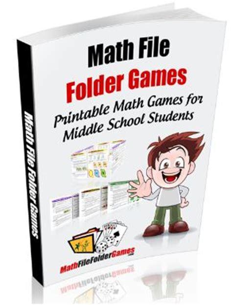 printable maths games for upper primary folder games file folder games and math games on pinterest