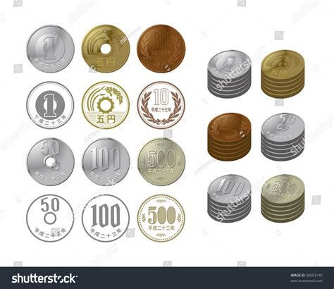 kakebo the japanese of saving money discover the path to balance and calm books japanese coins stock vector illustration 98053145