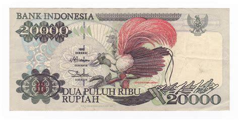 Uang Lama 20 000 jual 20 000 1995 burung cendrawasih uang lama