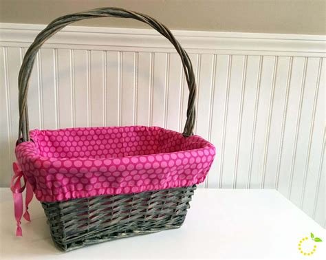 pattern for fabric easter basket liner basket liner tutorial 183 sweet lemon made
