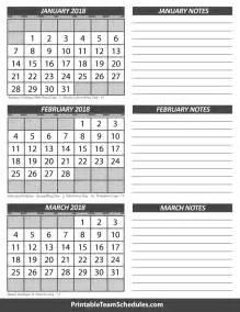 Calendar 2018 January To March January February March Calendar 2018