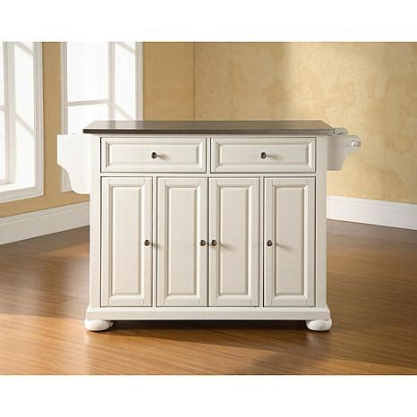 white kitchen island with stainless steel top crosley alexandria stainless steel top kitchen island white 7743697 hsn