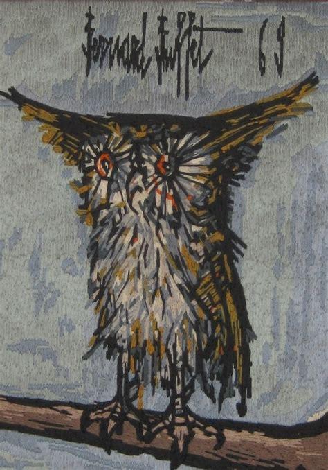 owl pattern from painting of bernard buffet
