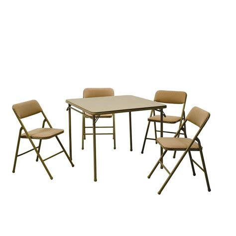 home depot table and chairs cosco 5 beige mist folding table and chair set