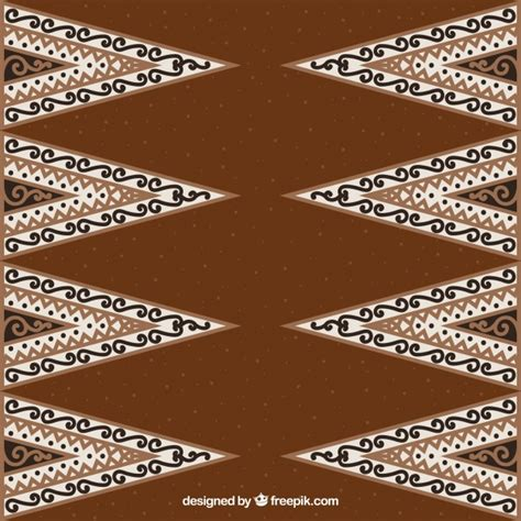 Brown Motif Songket Exclusive ornamental background batik of triangles vector free