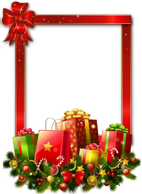 large xmas jpeg large transparent png photo frame with presents gallery yopriceville high