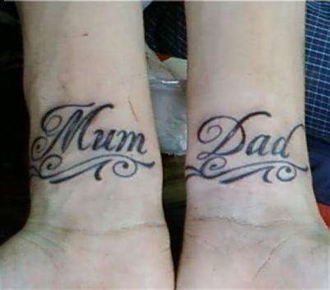 mum and dad wrist tattoos images designs