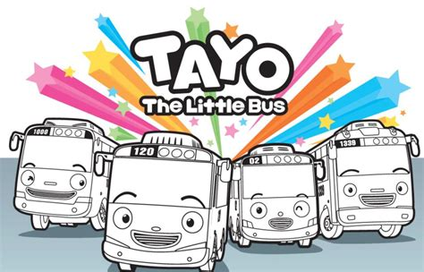 coloring page tayo free coloring pages of tayo little bus