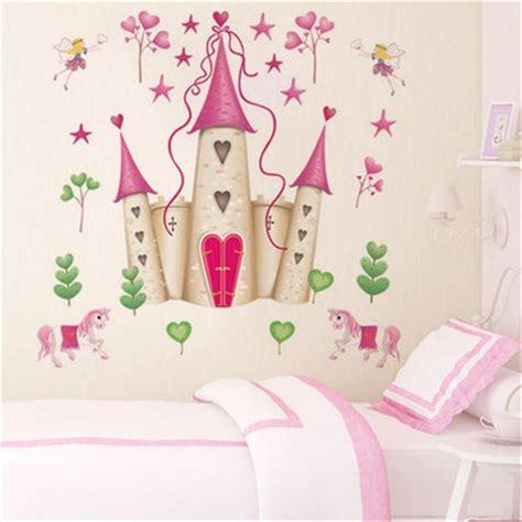 removable diy princess castle star fantasy girls bedroom wall sticker decorative kids baby