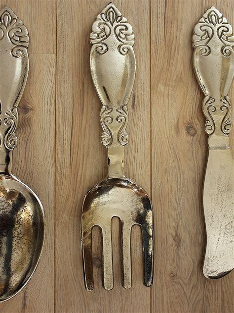 Wanddeko Messer Gabel by Wanddeko 3er Set Alu Besteck Messer Gabel L 246 Ffel K 252 Che