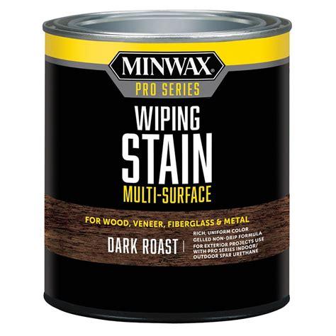 shop minwax 32 fl oz dark roast oil based interior stain at lowes com