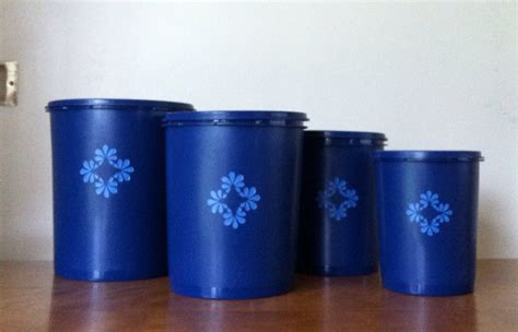 cobalt blue kitchen canisters tupperware cobalt blue kitchen canister set of 4