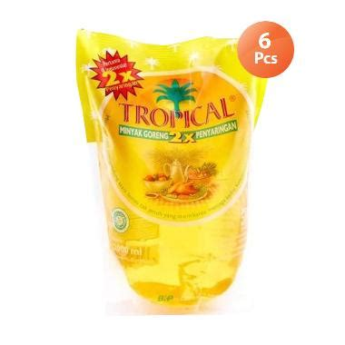 Minyak Goreng Tropical Di Carrefour jual tropical minyak goreng 2000 ml pouch 6 pcs