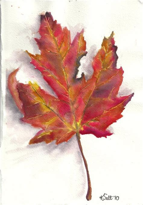 my leaf painting done in inks