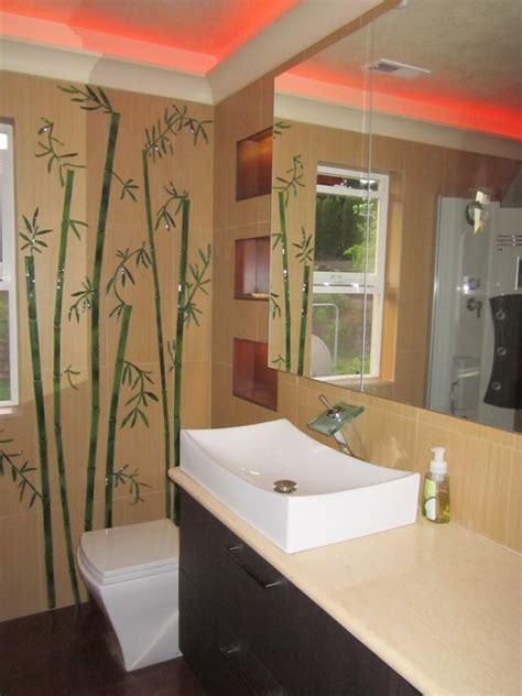 bathroom bazzar glass decorative tiles for bathroom bamboo stalks bathroom portland by magical