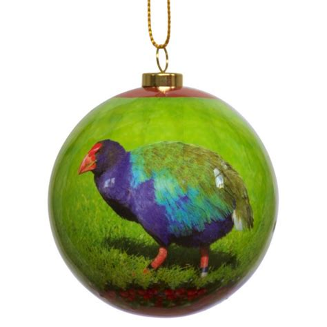nz bird baubles christmas takahe box of two january