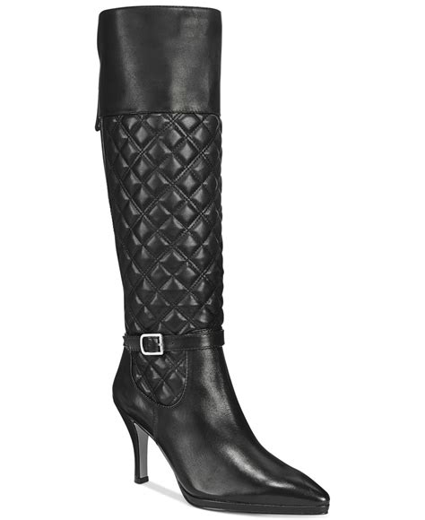 adrienne vittadini jabine pointed toe dress boots in black
